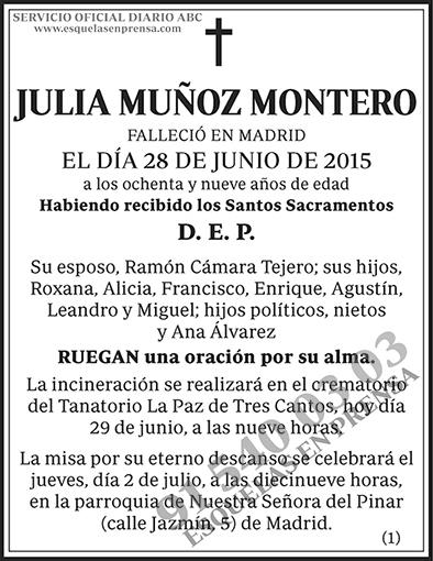 Julia Muñoz Montero
